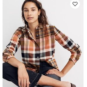 Madewell classic ex-boyfriend shirt seconda plaid
